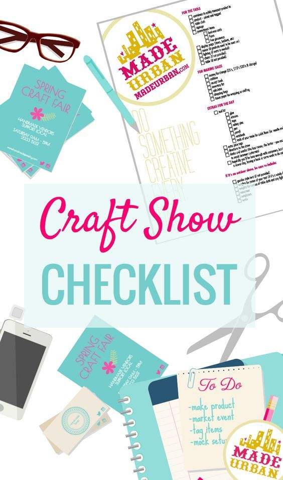 """Craft shows are a lot of work to prepare for and chances are you'll be up late with finishing details the night before and up early the morning of. Here's a list to help you get organized when you're overworked and tired  DOWNLOAD & PRINT OFF YOUR CRAFT FAIR CHECKLIST HERE FOR THE TABLE … Continue reading """"CRAFT SHOW CHECKLIST"""""""