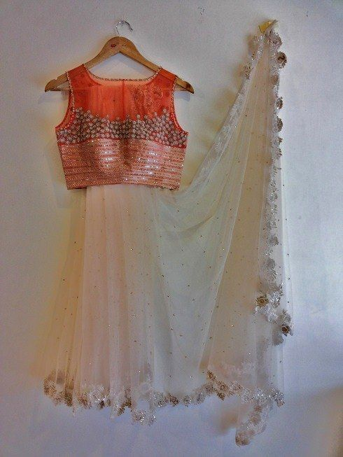 Designer Sheer blouse with Designer saree.. Get it done at http://mytailor.in/