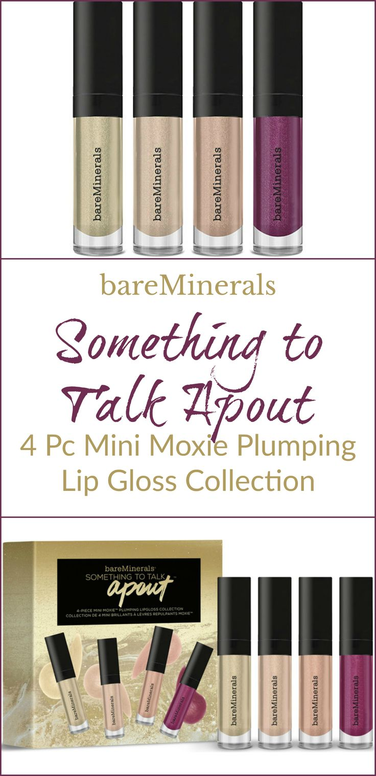 Something to Talk Apout 4-Piece Mini Moxie Plumping Lipgloss Collection by bareMinerals #12