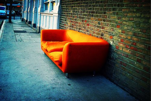 orange sofa by ellectric, via Flickr