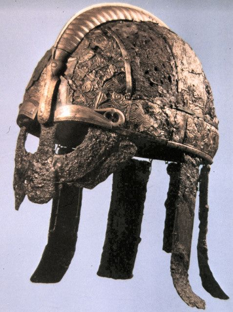 Viking Helmet from Valsgärde Cemetery, Sweden - @~ MlleLearn about your collectibles, antiques, valuables, and vintage items from licensed appraisers, auctioneers, and experts at BlueVault. Visit:  http://www.BlueVaultSecure.com/roadshow-events.php