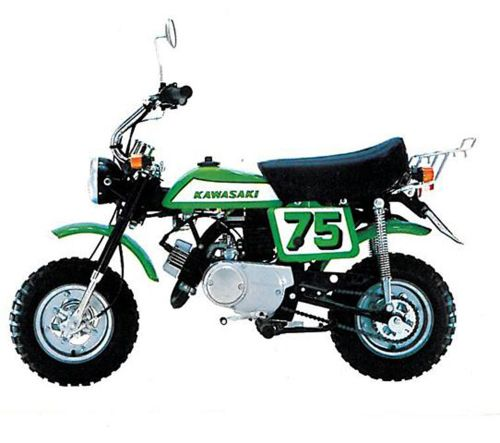 Kawasaki KV75 MT1 Mini-Trail. Vintage Mini-Bike