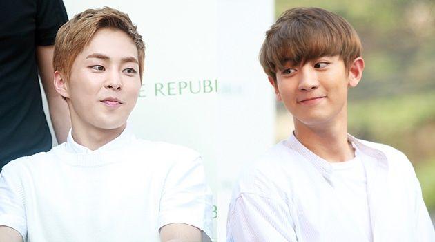 Kocak, Xiumin EXO Disuruh Chanyeol Tulis Nama Pakai Pantat di Depan Umum | Kabar, Berita, Artikel & Hot Gossip - WowKeren.com