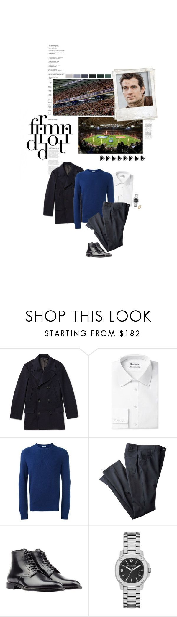 """""""(A) Attends the Scotland v Rugby Six Nations game at Murrayfield Stadium, Edinburgh"""" by immortal-longings ❤ liked on Polyvore featuring Kingsman, malo, Nicholas Kirkwood, Polaroid and Burberry"""