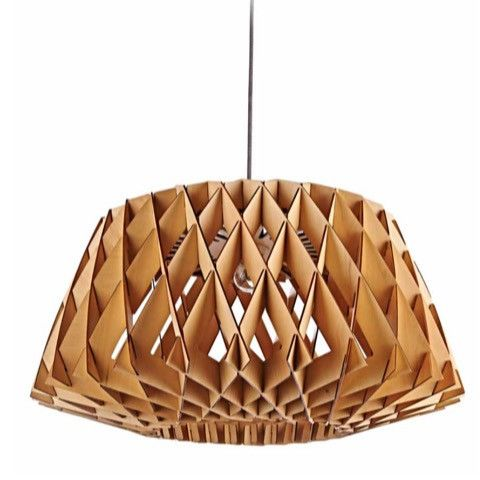 Beehive Plywood Pendant Light