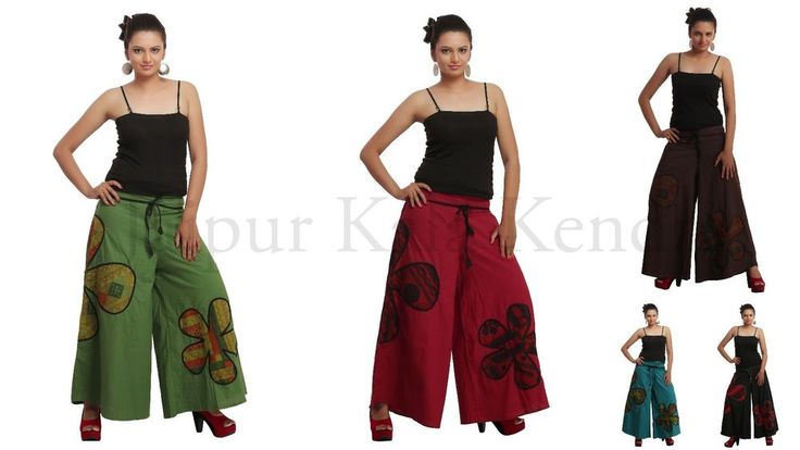 Women Cotton Palazzo Pant Bottom Fashion Trouser Wide Legged Lounge Floral JKK #JaipurKalaKendra #CasualPants