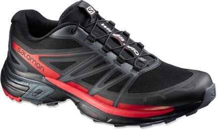 Salomon Men's Wings Pro 2 Trail-Running Shoes Black/Dark Cloud 10.5