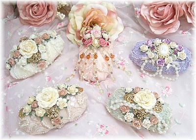 Romantic Victorian Beaded Lace Decorative Soaps-JUST IN CASE...She smells like old people