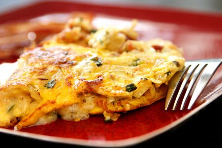 This is a delicious high protein, low fat, low carb omelette that only takes a few minutes to prepare!