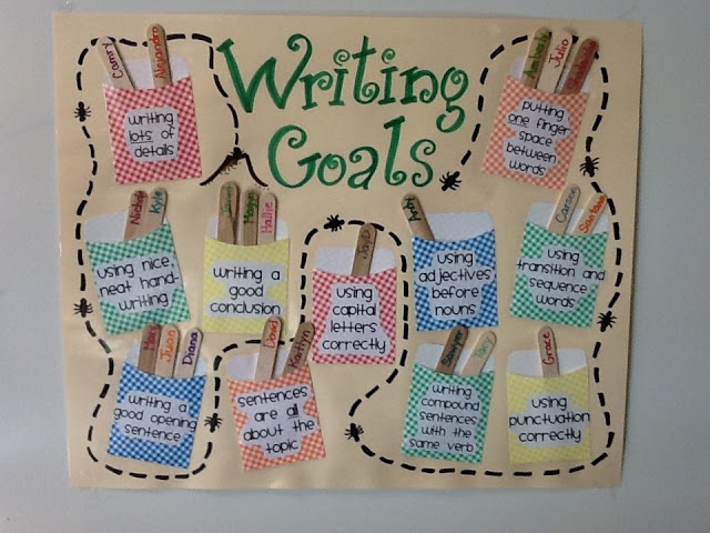It's Raining Resources!: Writing Goals Chart -