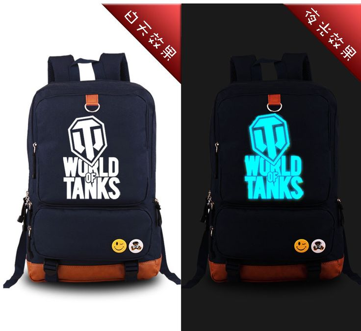 ==> [Free Shipping] Buy Best High Quality New 2017 Game WORLD OF TANKS Luminous Military Printing Backpack Canvas Men's backpacks school bags for teenagers Online with LOWEST Price | 32319614053