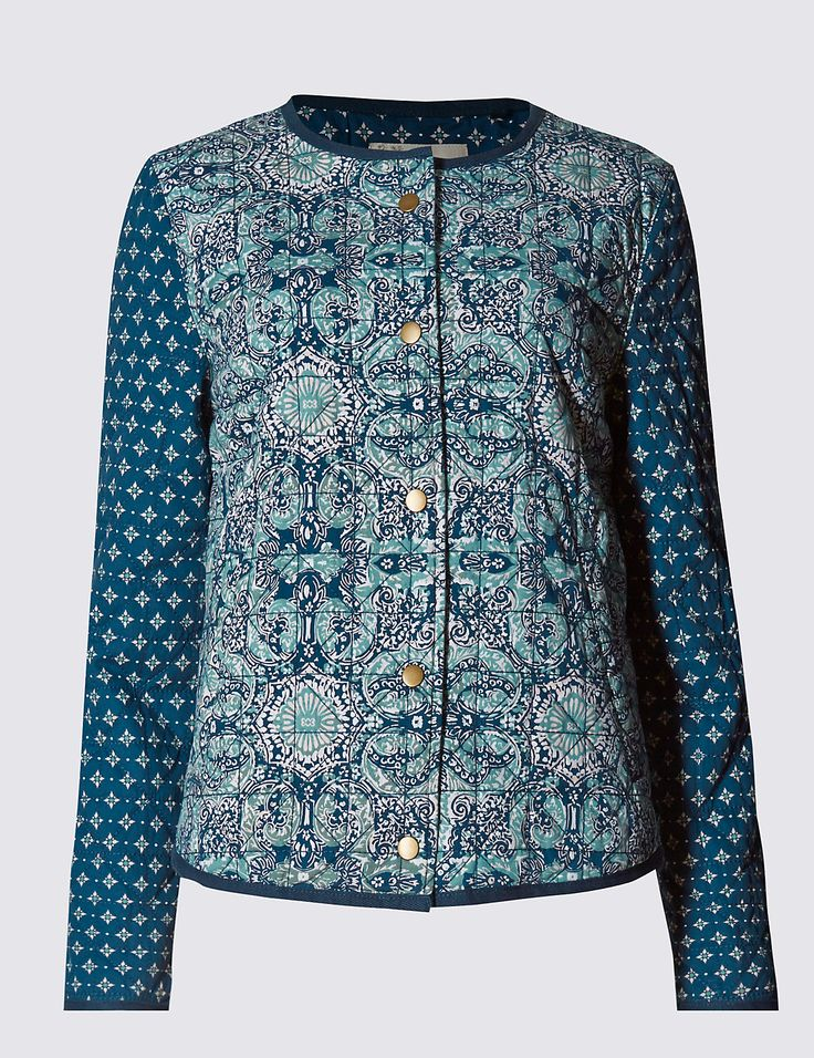 Pure Cotton Abstract Print Jacket