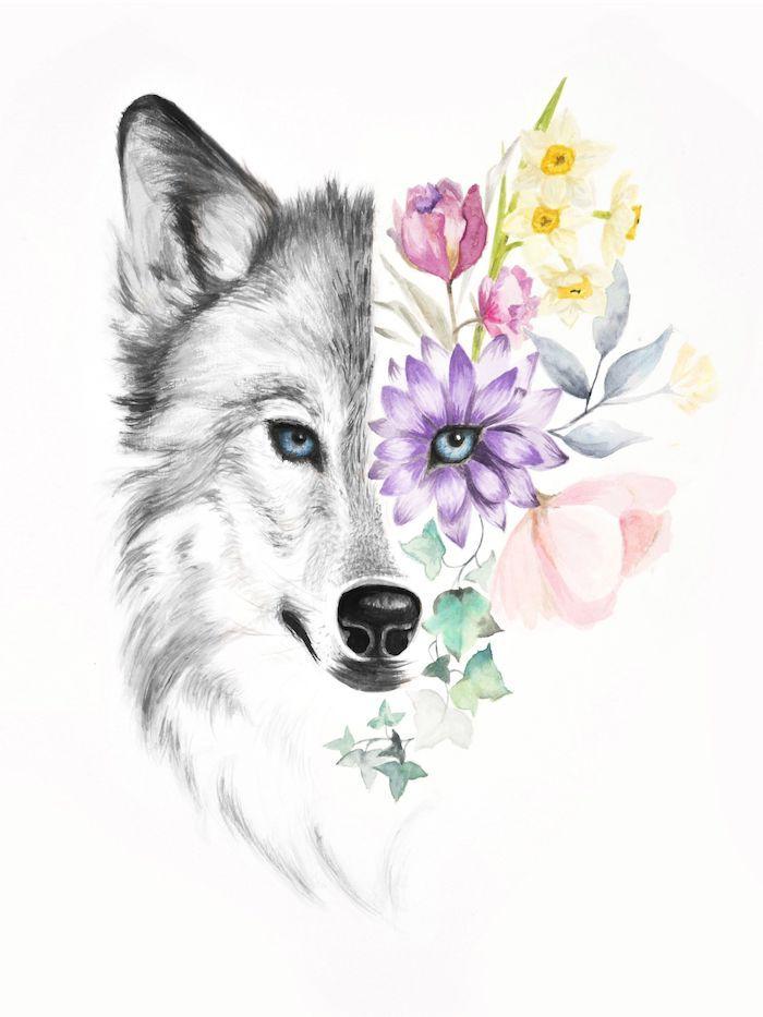 ▷ 1001 + astuces d'artiste pour apprendre à réaliser un dessin de loup