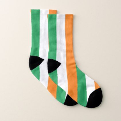 All Over Print Socks with Flag of Ireland - trendy gifts cool gift ideas customize