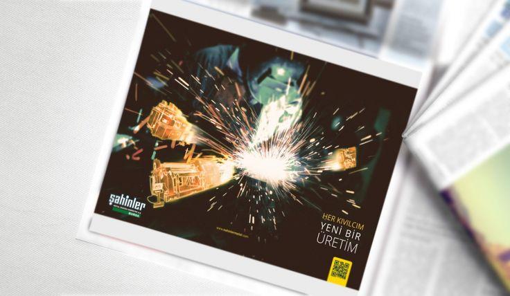 Şahinler Metal - Gazete & Dergi Reklam Tasarımı -Silüet Tanıtım   Grafik Tasarım