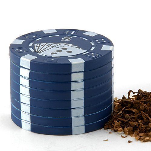 Funny Poker Chip Design 3 Pieces Mini Pollen Herb Spice Grind Metal Grinder Mesh Blue + Gift Box by Astra Depot. $12.28. This stylish case is ingeniously disguised as a poker chip that looks great and makes this grinder discrete to the eye. Making tedious hand breaking a thing of the past!. Easy for storage, never worried about the product be lost. High quality 26 mean sharp pyramid teeth - 12 in the top of the cap & 14 in the bottom of grinding, crush your spice h... #money #poker