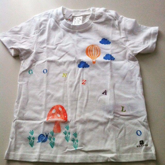 Camiseta para Gonzalo a juego con la de su hermano Pablo