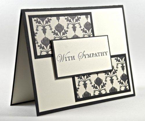 Simple Elegance With Sympathy Handmade Greeting Card Fleur de Lis ...