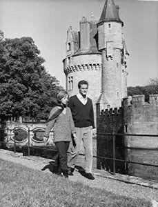 Vintage Photo de Pascale audret et Philippe leroy-beaulieu Marche passé Château.