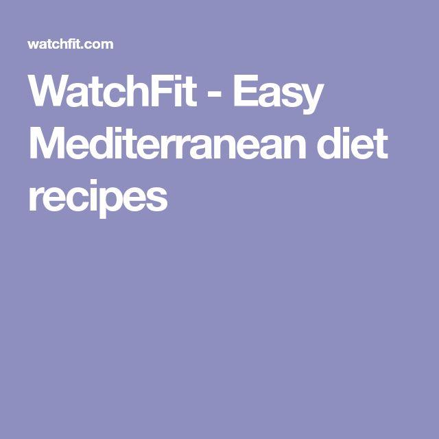 WatchFit - Easy Mediterranean diet recipes