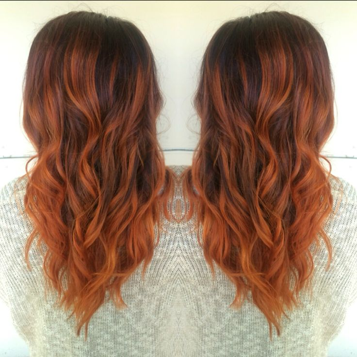17 Best Ideas About Red Balayage Hair On Pinterest Red