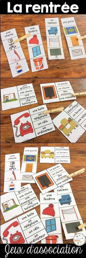 La rentrée scolaire - jeux d'association pour pratiquer le vocabulaire en jouant.