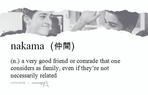 Nakama- I love the japanese words you don´t have in many other languages