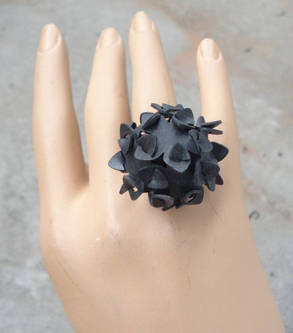 recycle ring innertube black or blue rubber by bapseflaps on Etsy, $13.00