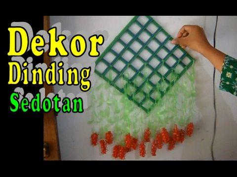 Kreasi Hiasan Dekorasi Dinding dari Sedotan | Kerajinan Tangan - YouTube