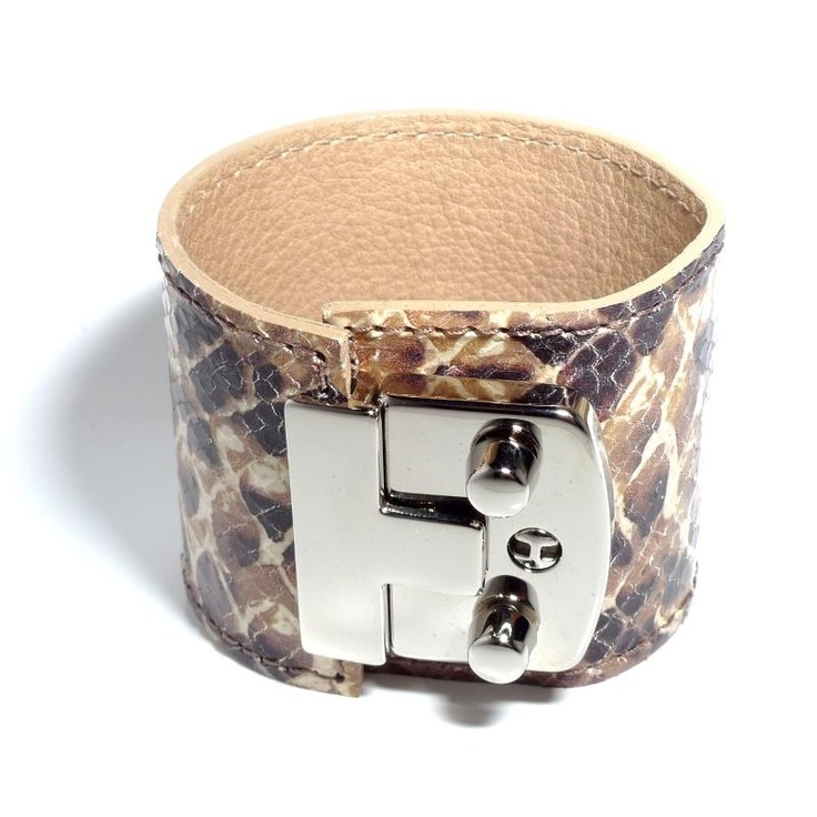 Vite Fede Chiave Python Leather Cuff
