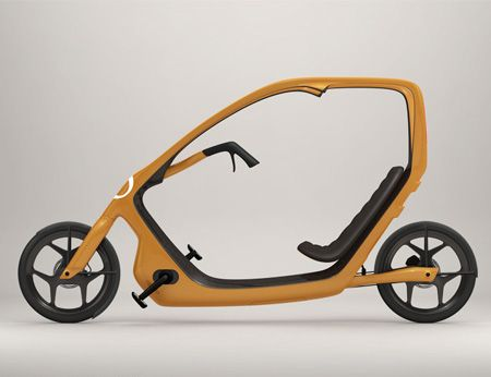 ThisWay is a bicycle by Swedish designer Torkel Dohmers, with a roof intended to protect the cyclist in bad weather. According to the designer, the concept aims to encourage more people to take up cycling. The bike has built-in, battery-powered LED lights at the front and rear, which can be recharged using roof-mounted solar cells.