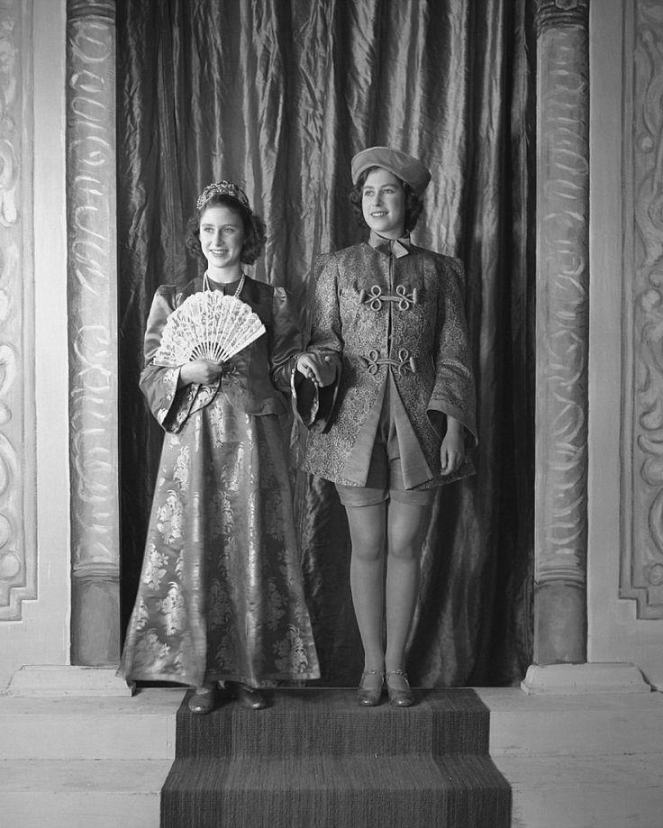 l r princess margaret and princess elizabeth both in