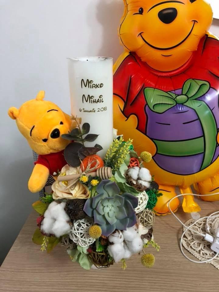 Lumanare De Botez Winnie Pooh Monik Flowers Events Winnie The