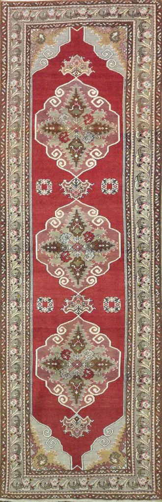 """Carpet Culture - TURKISH OLD RUNNER - 3' - 5"""" X 10' - 9""""  - A 022"""