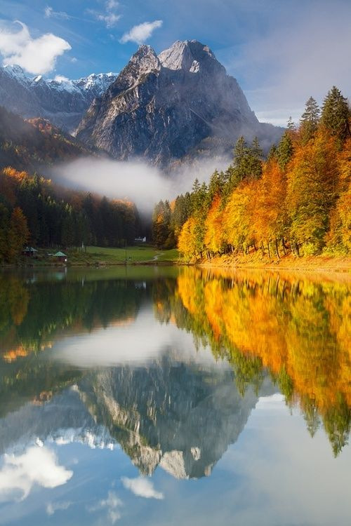 Riessersee, Garmisch-Partenkirchen, Germany, scenery, landscapes, nature, mountains, water, trees