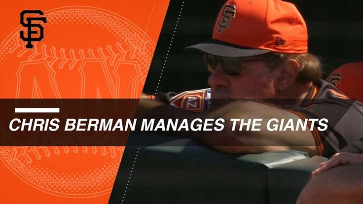 LAD@SF: Chris Berman joins Giants as guest manager