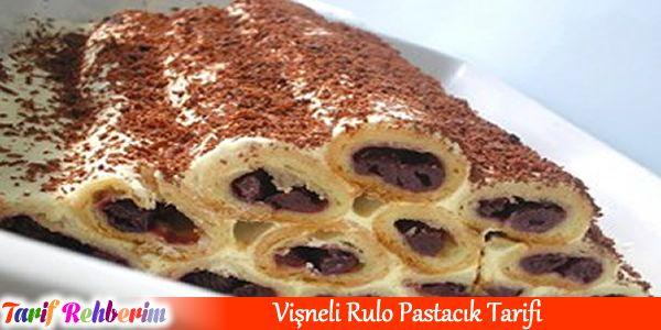 #vişnelirulopastacık #pasta #tatlı #krema