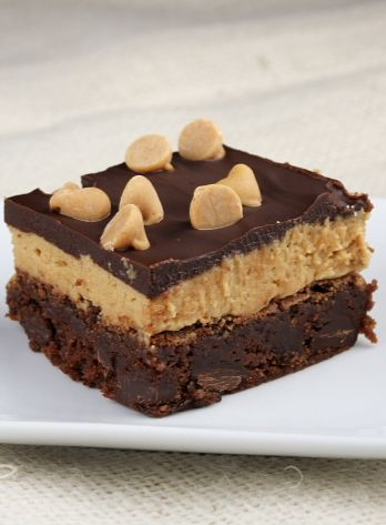 Peanut Butter Cookie Dough Brownies—all of your favorite desserts collide!