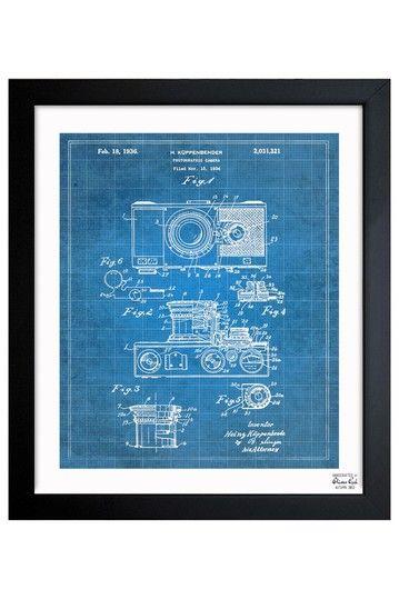 57 best blueprints images on pinterest oliver gal art framed art oliver gal kuppenbender camera 1936 framed art print by oliver gal gallery on malvernweather Image collections