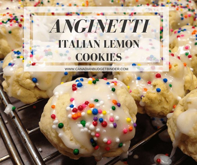 Anginetti Italian Lemon Cookies with Coloured Sprinkles - Canadian Budget Binder