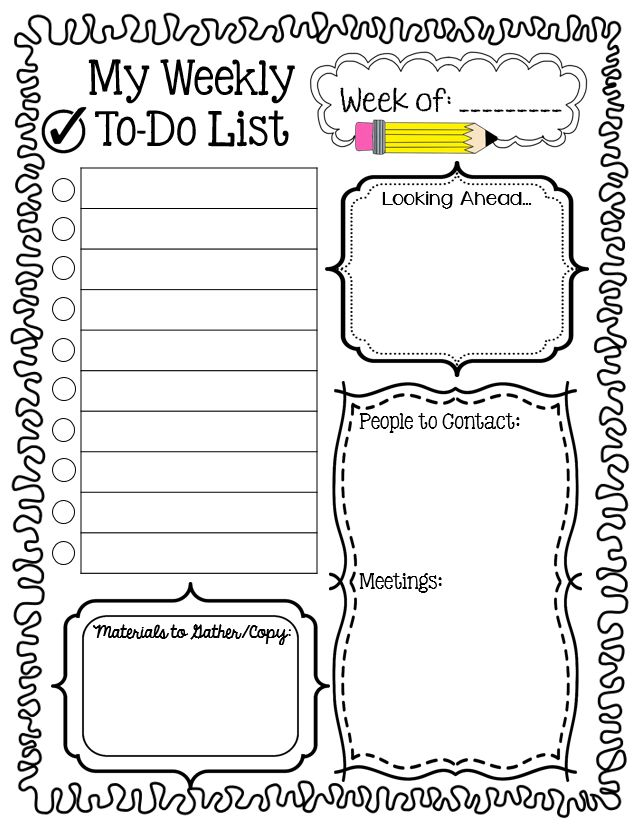 114 Best Teacher To-Do Lists Images On Pinterest | Planner Ideas