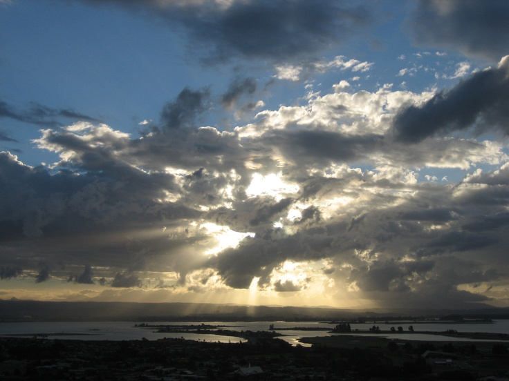 Nelson sunset over Rabbit Island from Wakatu