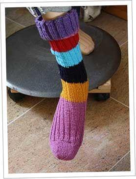De makkelijkste manier om een sok te breien! Tube sokken, sokken zonder hiel.