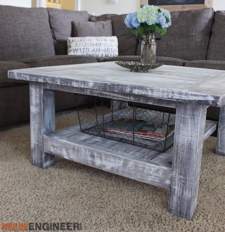 Square Coffee Table w/ Planked Top { Free DIY Plans } - 25+ Best Ideas About Square Coffee Tables On Pinterest Coffee