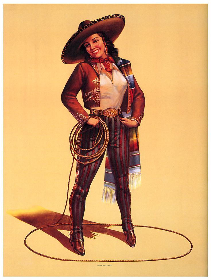 Mexican Calendar Girl Art : Best gotta love a cowgirl images on pinterest