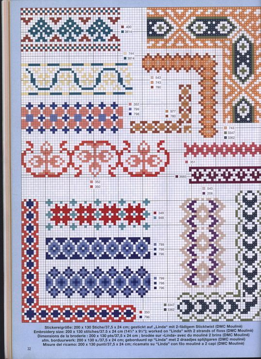 Cross Stitch Borders Borduur Randen Pinterest Design