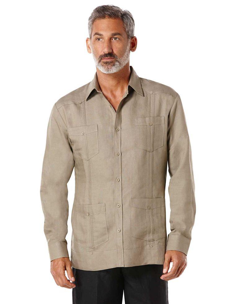 #FashionVault #perry ellis #Men #Tops - Check this : Cubavera Rayon Blend Long Sleeve Guayabera for $69.99 USD