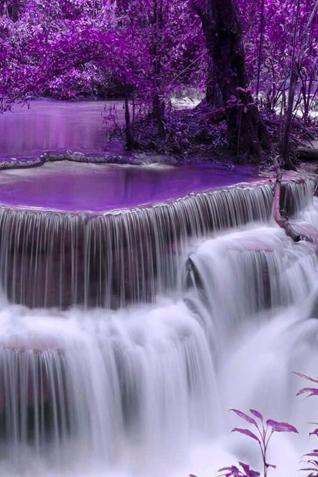 Feeling totally relaxed she closed her eyes. Strange images and shapes danced in her head to the sound of the waterfall. Shades of purple came and went behind her closed eyes. She felt strangely calm, almost like she was floating. Excerpt from THE COLOUR OF LOVE #Waterfalls