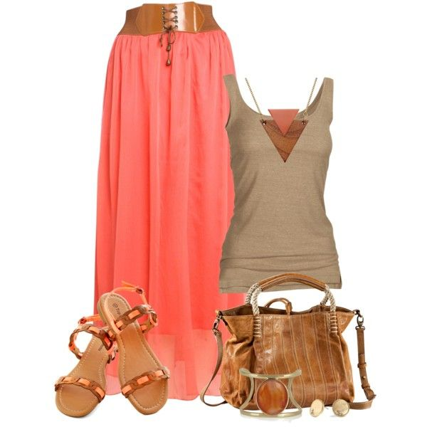 Maxi Skirt 2 by johnna-cameron on Polyvore