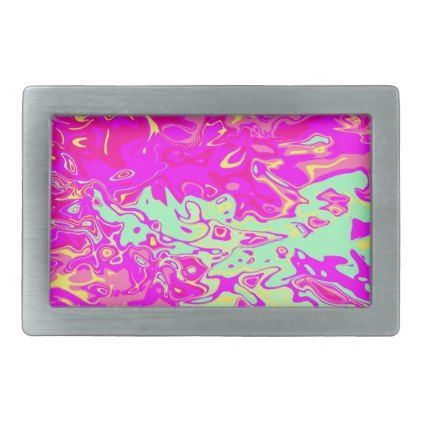 Marbleized Look Pinks Greens Yellow Belt Buckle - pink gifts style ideas cyo unique